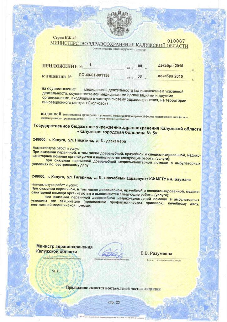 Лицензия-23